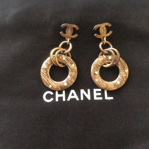 Chanel vintage earrings.